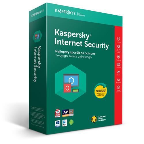 Kaspersky Internet Security Multi-Device program antywirusowy 2 Urządzenia/Licencja na 1 rok